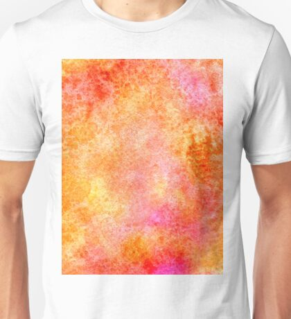 Orange Paint Background 3 Unisex T-Shirt