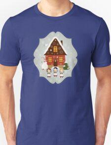 Little Carolers Christmas Card - Holiday Saying Unisex T-Shirt