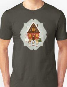 Little Carolers Christmas Card - Holiday Saying T-Shirt