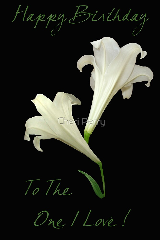 Easter Lily by Cheri Perry