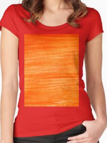Orange Paint Background 4 Women's Fitted Scoop T-Shirt
