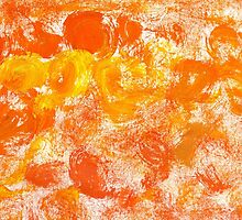 Orange Paint Background 5 by AnnArtshock