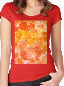 Orange Paint Background 5 Women's Fitted Scoop T-Shirt