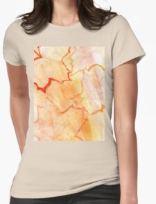 Orange Paint Background 8 Womens Fitted T-Shirt