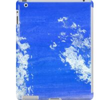 Painted Blue Texture iPad Case/Skin