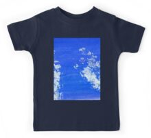 Painted Blue Texture Kids Tee