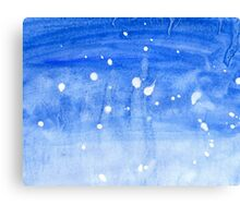 Painted Blue Texture 2 Canvas Print