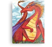 Sir Dragon Metal Print