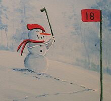 Winter Golfing in Michigan by William  Boyer