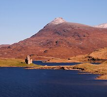 Ardvreck Castle and Quinag, Loch Assynt by Karen Thorburn