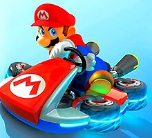 Mario drifting on is Kart by kermekx