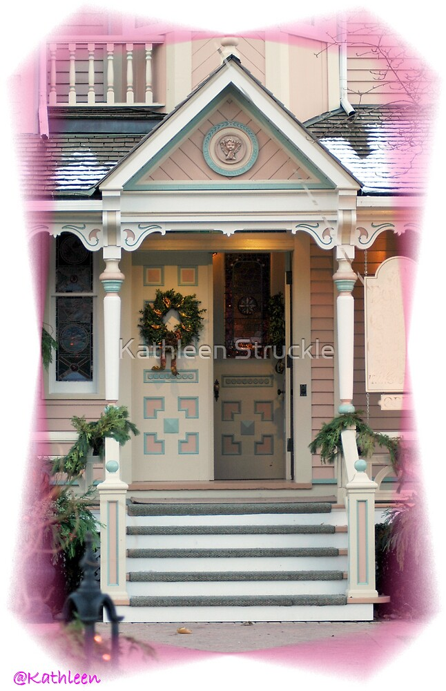 Holiday Decorated Door by Kathleen Struckle