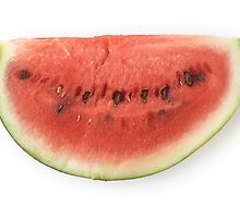 Watermelon Slice as a Healthy and Nutritious Fruit by etienjones