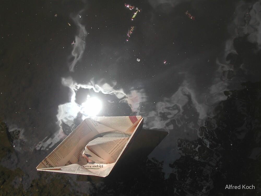 styx in paper boat by Alfred Koch