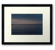 Lonely Ship Framed Print