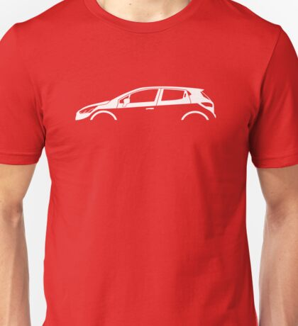 Car silhouette for Renault Clio mk4, 2012- enthusiasts Unisex T-Shirt
