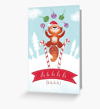 Falalalala Christmas Card Greeting Card