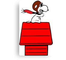 Aviator Snoopy Canvas Print