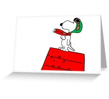 Snoopy Red Baron Greeting Card
