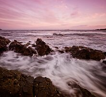 Serenity Beach at Dusk 5 by Mark Snelson