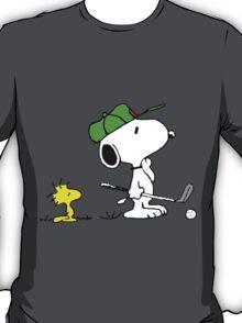 Snoopy on golf T-Shirt