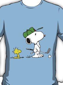 Snoopy on golf T-Shirt