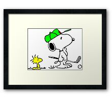 Snoopy on golf Framed Print