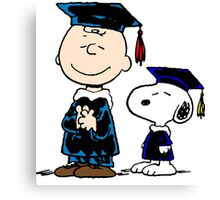 Snoopy graduate Canvas Print