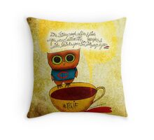 What my #Coffee says to me - May 16, 2014 Pillow Throw Pillow