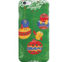 Have yourself a chirpy little Christmas - green iPhone Case/Skin
