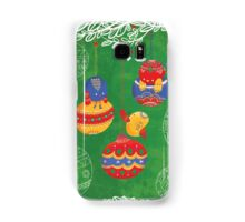 Have yourself a chirpy little Christmas - green Samsung Galaxy Case/Skin