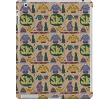 Winter Ski Pattern iPad Case/Skin