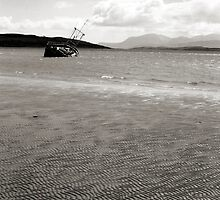 Ettrick Bay with Boat by Mark Connelly