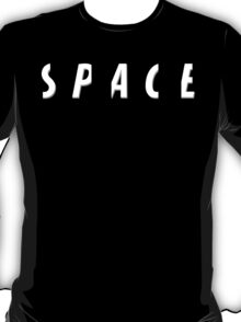 Space Typographic Illustration T-Shirt