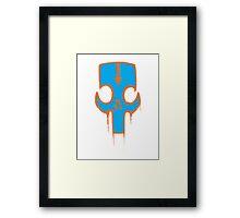 Graffiti Skull Framed Print