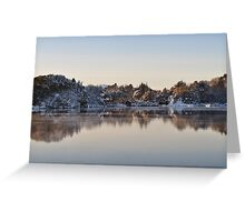 Snowy winterday in the fjords of Norway Greeting Card