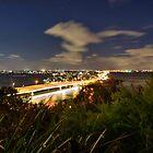 Narrows bridge to South Perth at night by BigAndRed