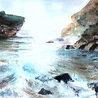 A Cornish sea scene by irene garratt