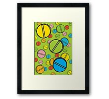 Bright Pills Framed Print