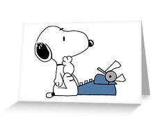 Snoopy typewriting Greeting Card