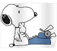 Snoopy typewriting Poster