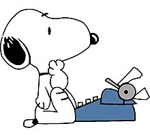 Snoopy typewriting Photographic Print