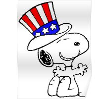 USA Snoopy Poster