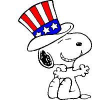 USA Snoopy Photographic Print