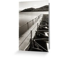 Loch Fad Fishing Boats Greeting Card