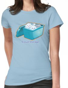 Cute Cloud Storage Womens Fitted T-Shirt