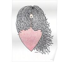 Hair and heart Poster