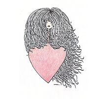 Hair and heart Photographic Print