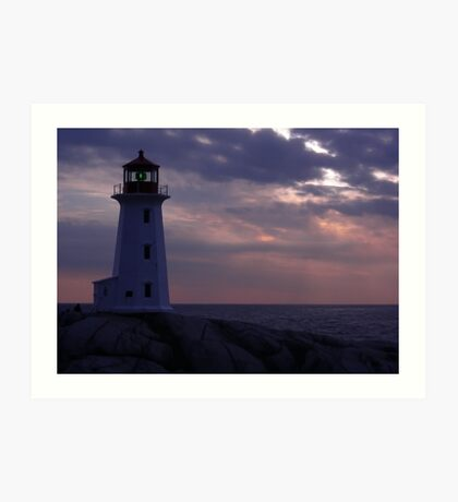 Peggy's Cove  Pink and Blue Art Print