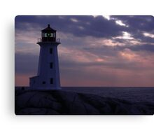 Peggy's Cove  Pink and Blue Canvas Print